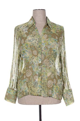 frank eden chemises femme de couleur vert