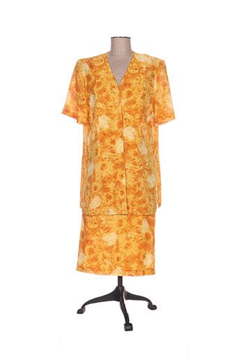 charles lorens ensemble femme de couleur orange