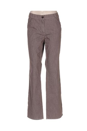 Pantalon casual marron GERRY WEBER pour femme