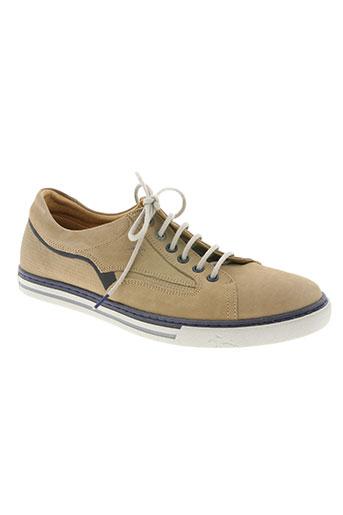 fluchos chaussures homme de couleur beige