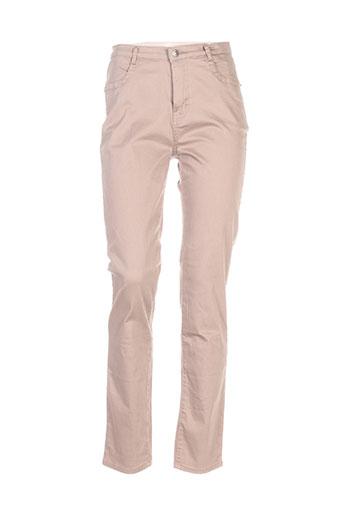 i.quing pantalons femme de couleur beige