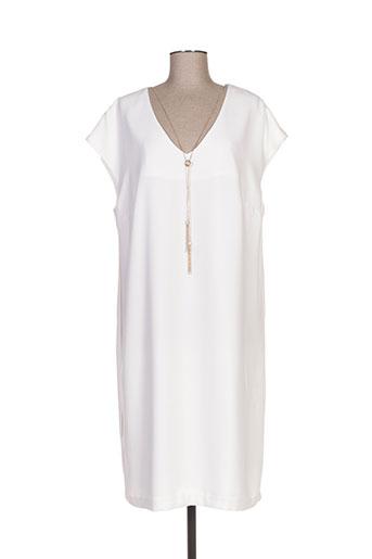 devernois robes femme de couleur blanc