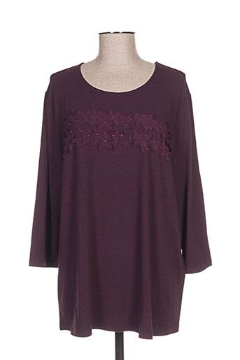 T-shirt manches longues violet BETTY BARCLAY pour femme