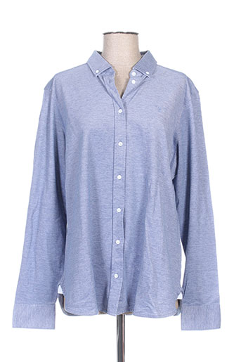 gant chemises femme de couleur bleu
