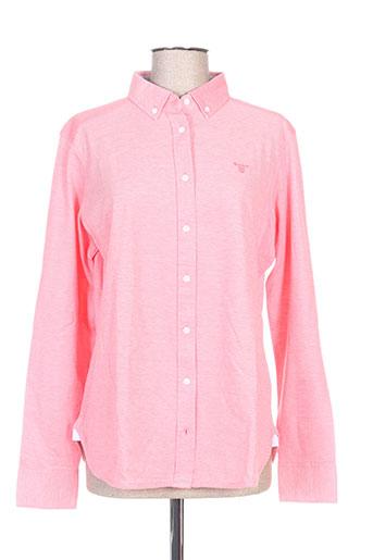 gant chemises femme de couleur rose