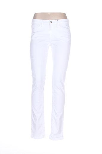 gant jeans femme de couleur blanc