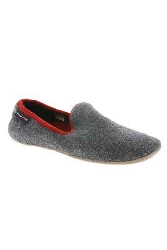 haflinger chaussures homme de couleur gris