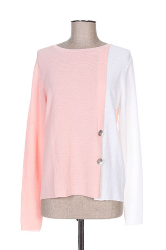 Pull col rond rose TRICOTONIC pour femme