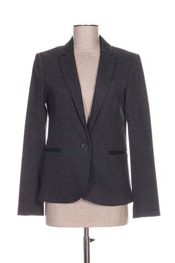lea lau vestes femme de couleur gris