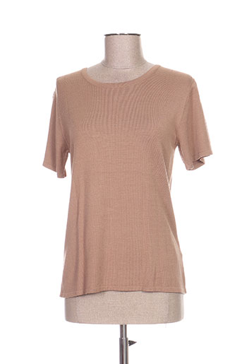 Pull col rond marron ANANKE pour femme