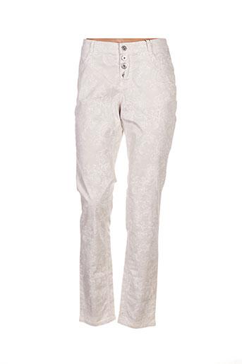 stark pantalons femme de couleur beige