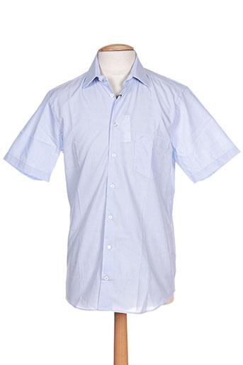 daniel hechter chemises homme de couleur bleu