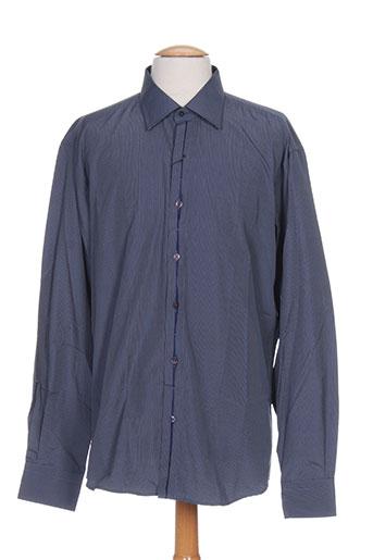 georges rech chemises homme de couleur bleu