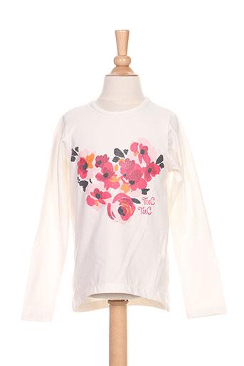 tuc tuc t-shirts fille de couleur blanc