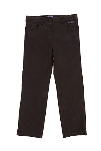 Pantalon casual marron COUDEMAIL pour fille