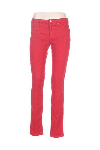 sportmax pantalons femme de couleur rouge