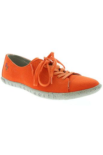 fye chaussures femme de couleur orange