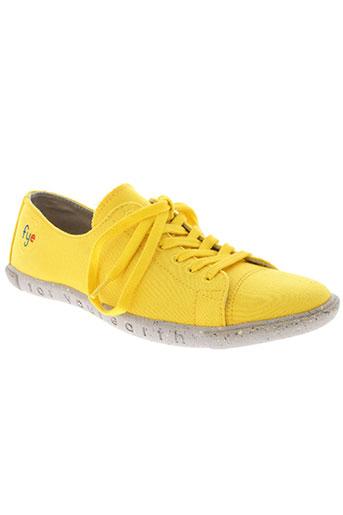fye chaussures femme de couleur jaune