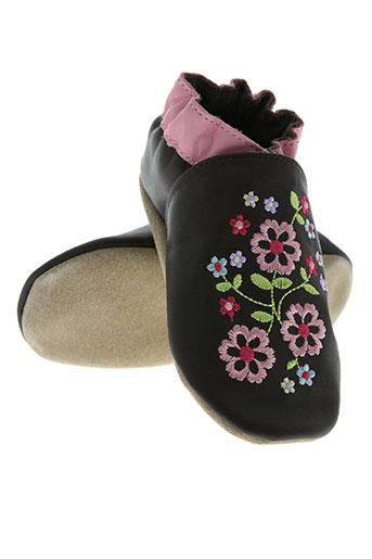 robeez chaussures fille de couleur marron
