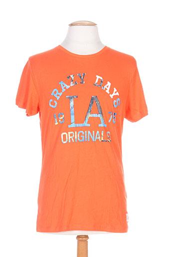 jack EFFI_CHAR_1 jones t-shirts homme de couleur orange