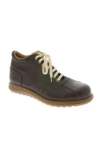rocker's chaussures homme de couleur marron