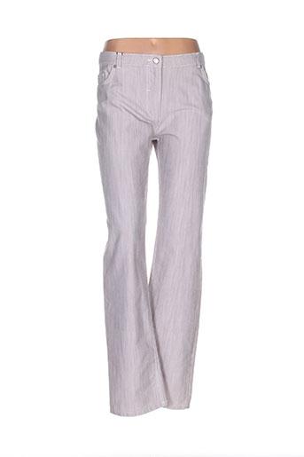 bleu de sym pantalons femme de couleur beige