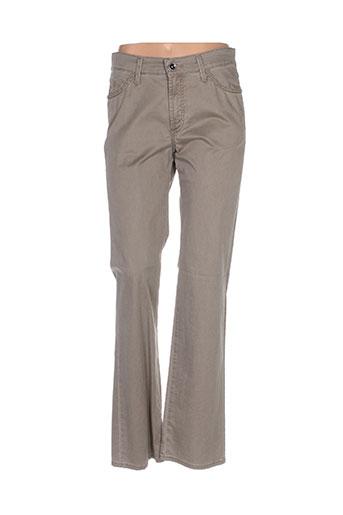 pionier pantalons femme de couleur vert