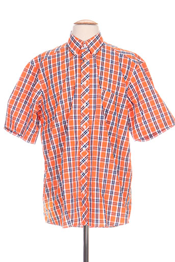 marvelis chemises homme de couleur orange