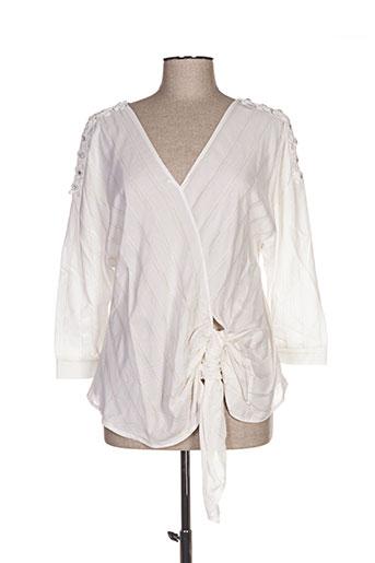mark's ther chemises femme de couleur blanc