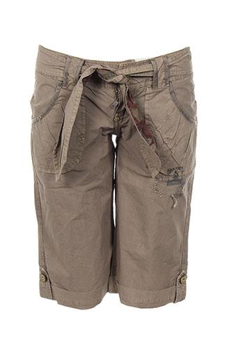 teddy smith shorts / bermudas femme de couleur marron