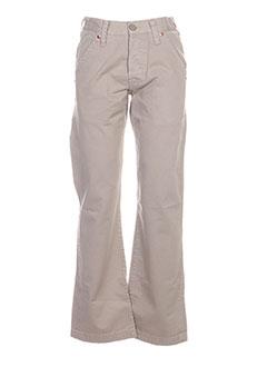 Pantalon casual beige CHEFDEVILLE pour homme