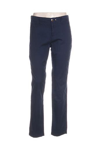 ddp pantalons femme de couleur bleu