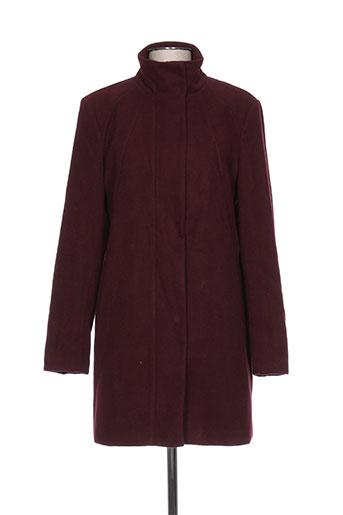 b.young manteaux femme de couleur rouge