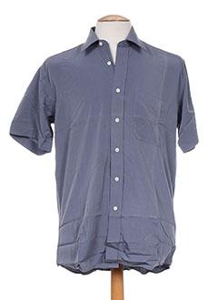 Chemise manches courtes gris JOHN STEVENS pour homme