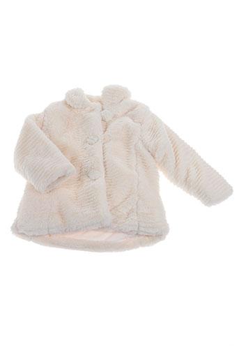 baby bol manteaux fille de couleur blanc