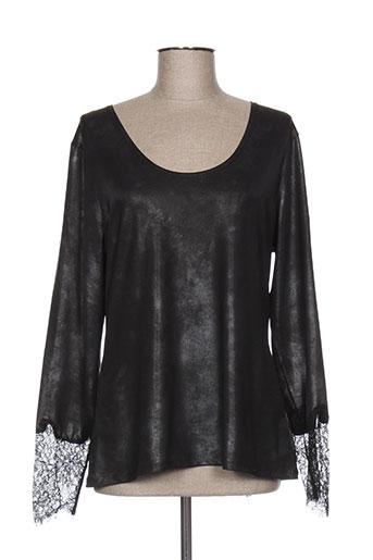 lauren vidal t-shirts femme de couleur noir