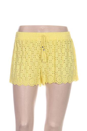 twin set shorts / bermudas femme de couleur jaune