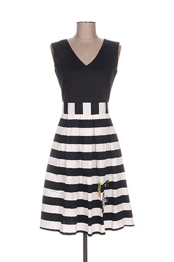 pepita robes femme de couleur noir