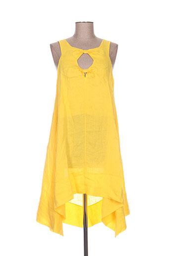 pepita robes femme de couleur jaune