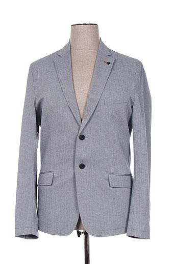 delahaye vestes homme de couleur gris