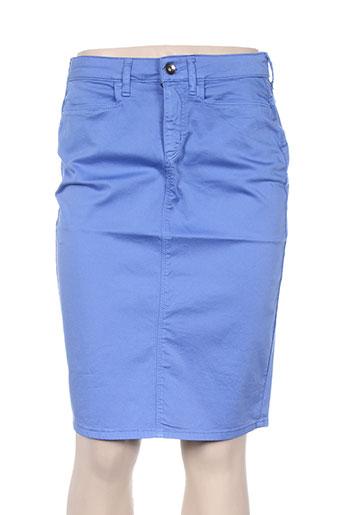 olivier philips jupes femme de couleur bleu