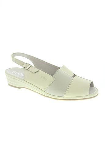 suave chaussures femme de couleur blanc