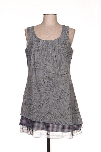 camage tuniques femme de couleur gris