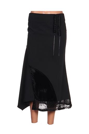 Jupe mi-longue noir ELLIOTT pour femme