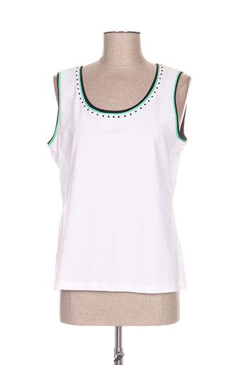 basler t-shirts femme de couleur blanc