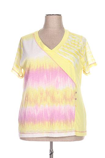 jean gabriel t-shirts femme de couleur jaune
