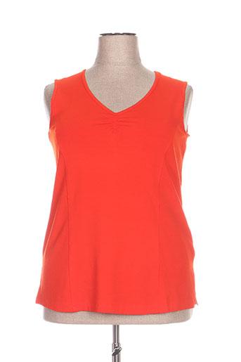 chalou t-shirts femme de couleur rouge