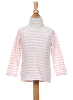T-shirt manches longues rose NOPPIES pour fille