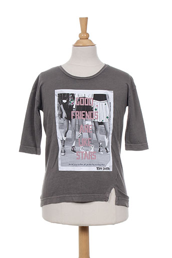 teddy smith t-shirts garçon de couleur gris