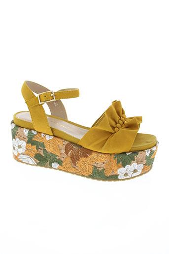 bruno premi chaussures femme de couleur jaune